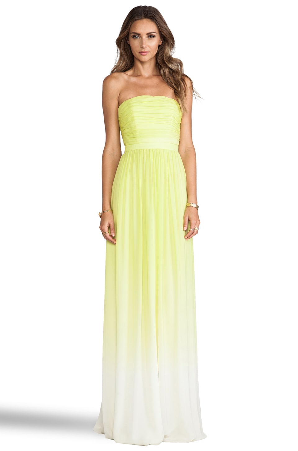 ERIN erin fetherston Isabelle Gown in Chartreuse