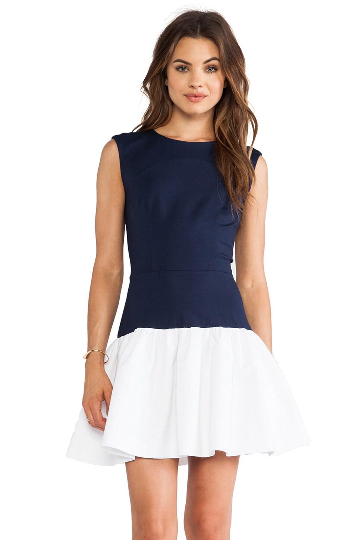 ERIN erin fetherston Hepburn Dress in Eclipse & White