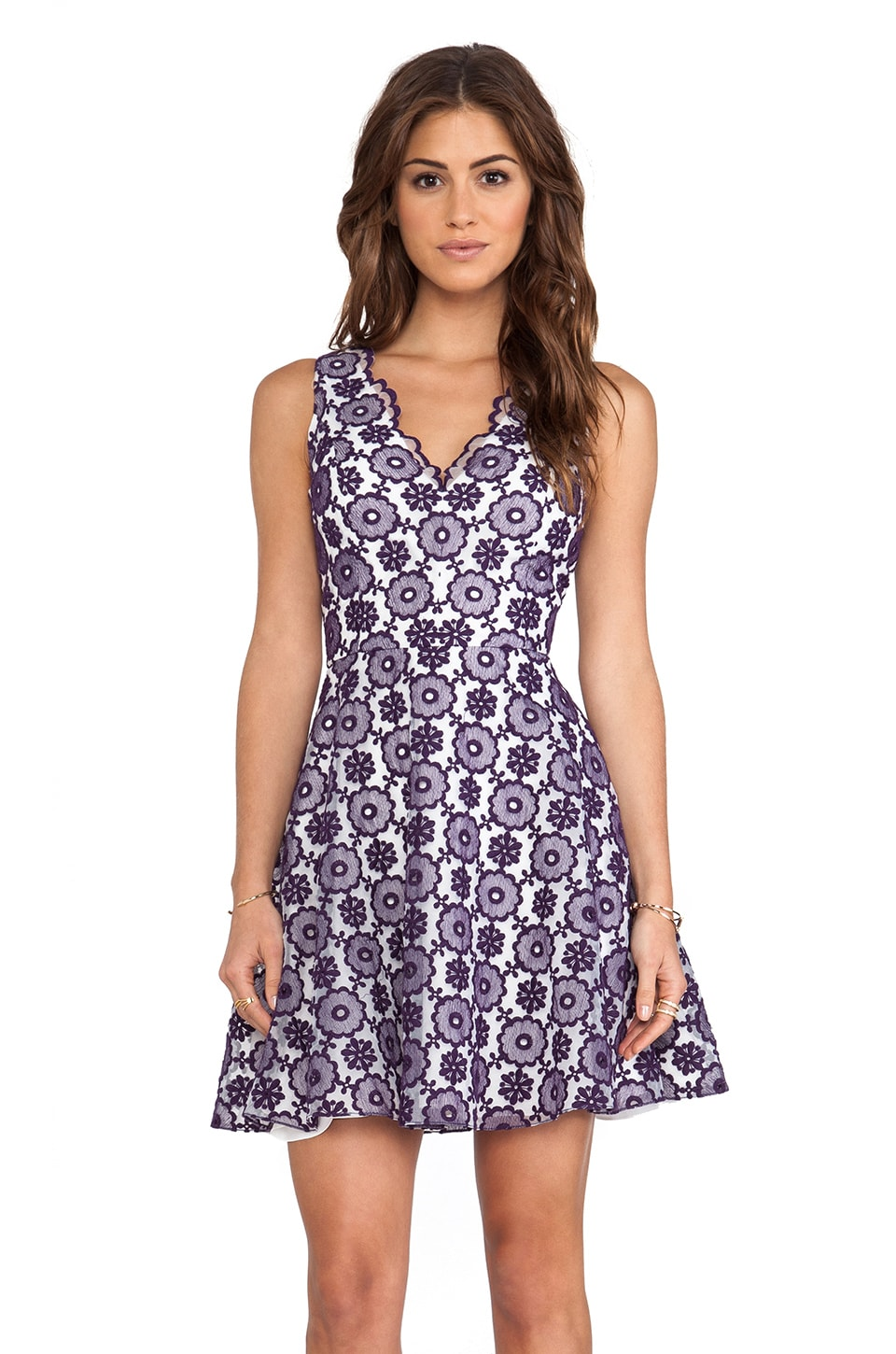 ERIN erin fetherston Sally Dress in Amethyst
