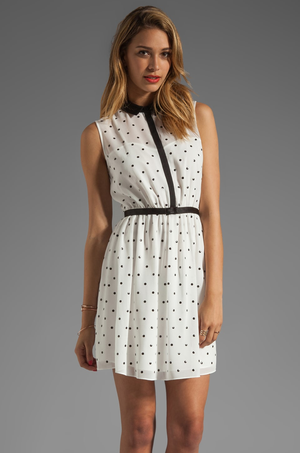 ERIN erin fetherston RUNWAY Claudine Dress in White/Black