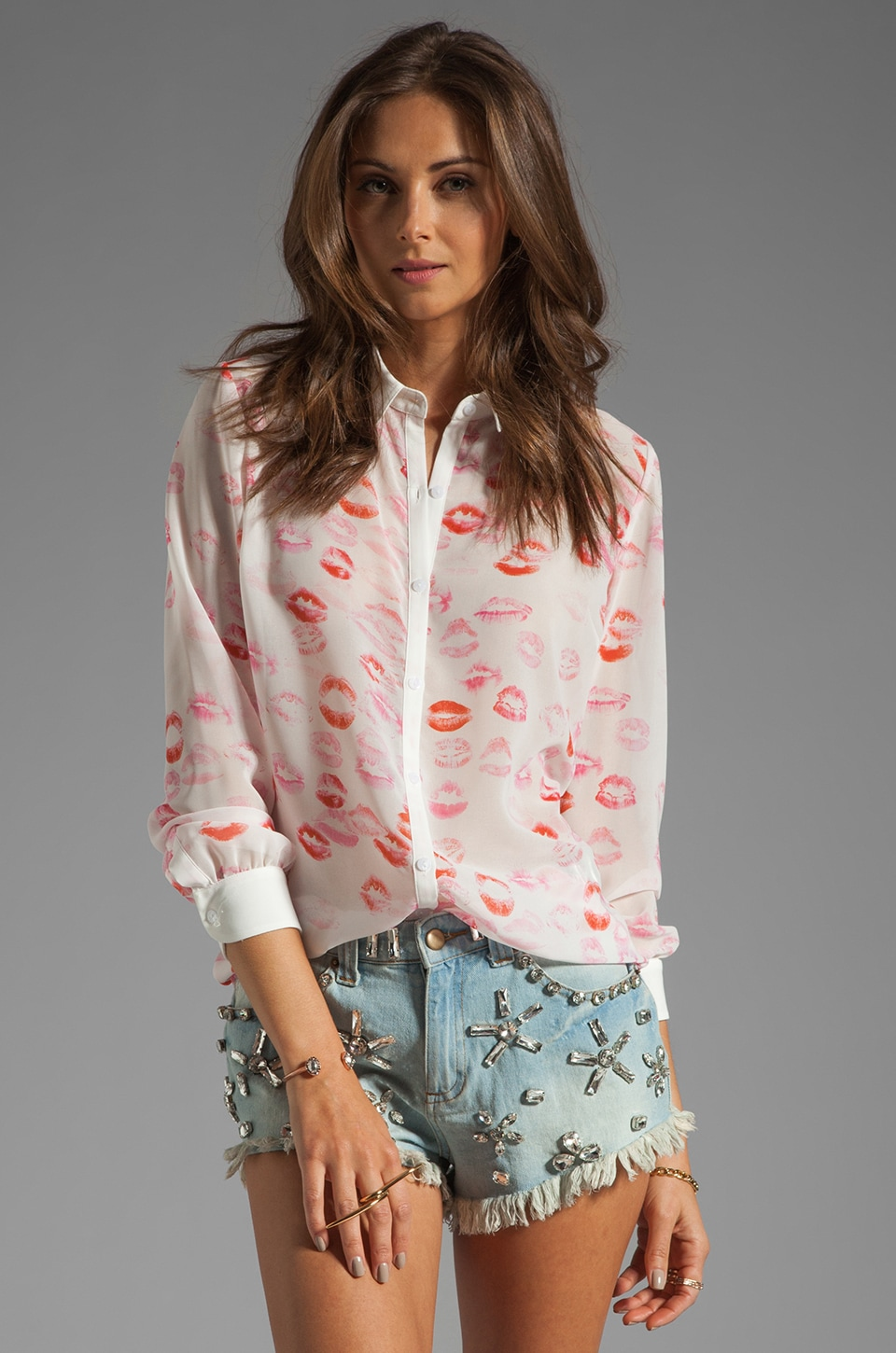ERIN erin fetherston Carraway Top in Lipstick