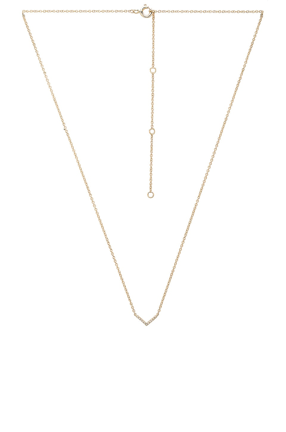 EF COLLECTION Mini Chevron Necklace in Yellow Gold