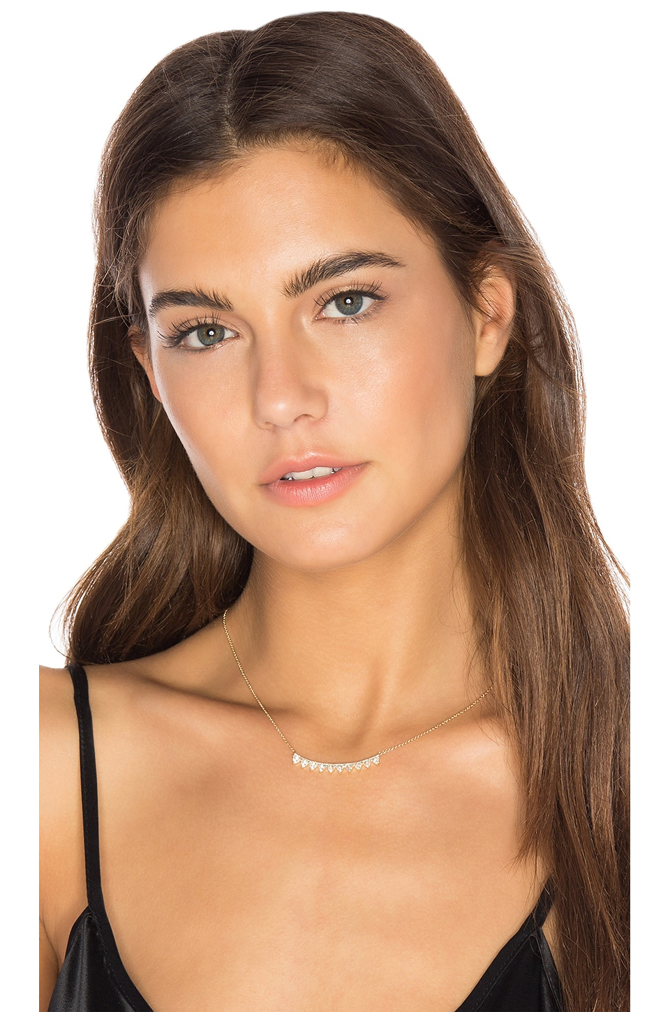 Multi Triangle Crescent Necklace by Ef Collection