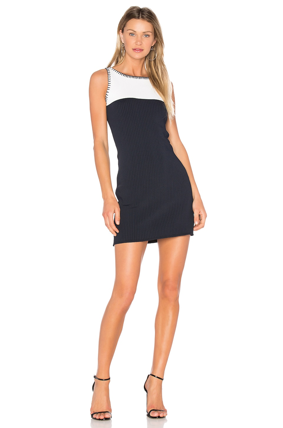 EGREY Colorblock Dress in Navy & Off White