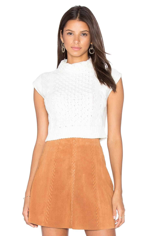 EGREY Anna Crop Sleeveless Sweater in Off White