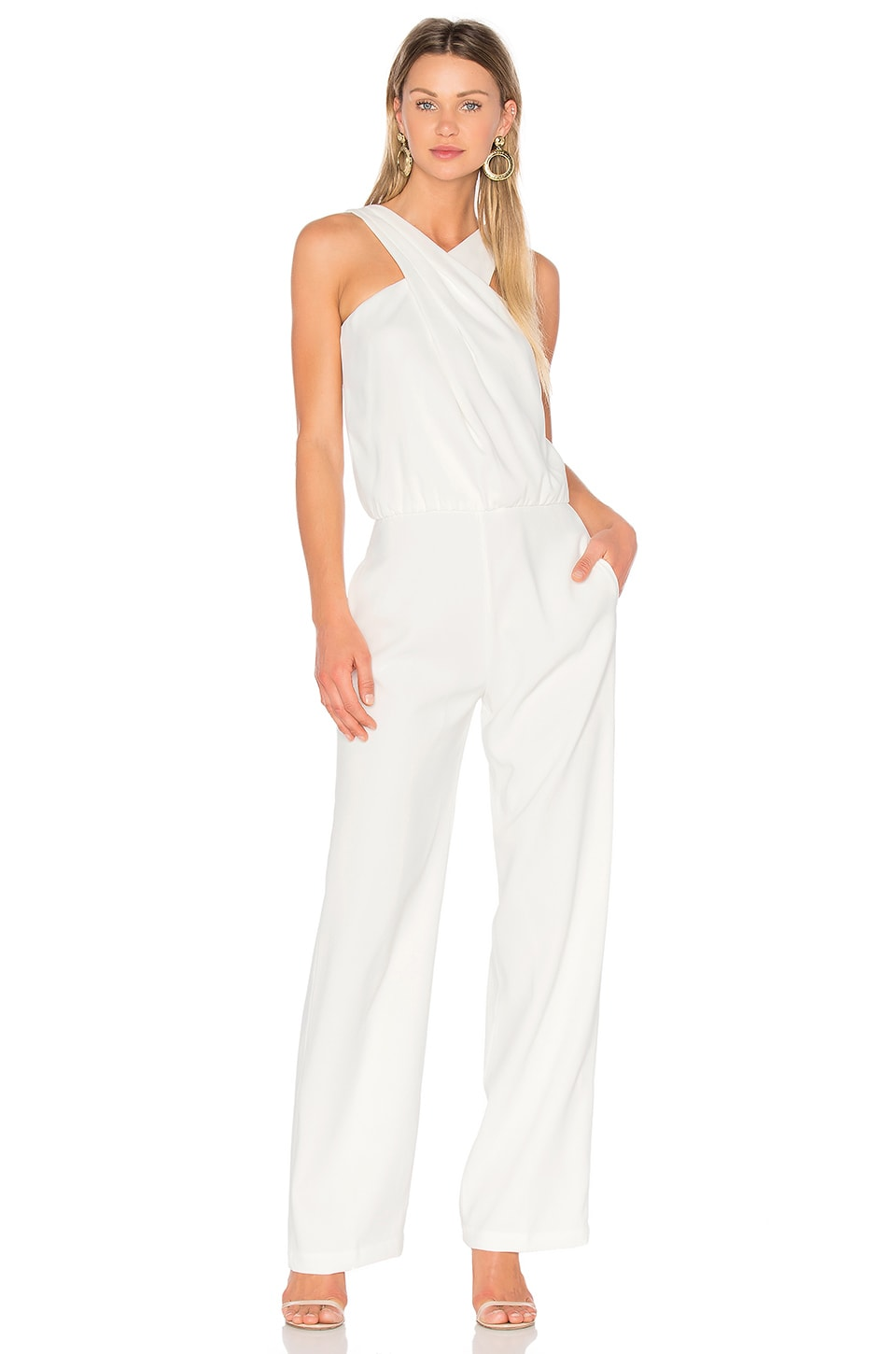EGREY Twist Front Jumpsuit in Off White