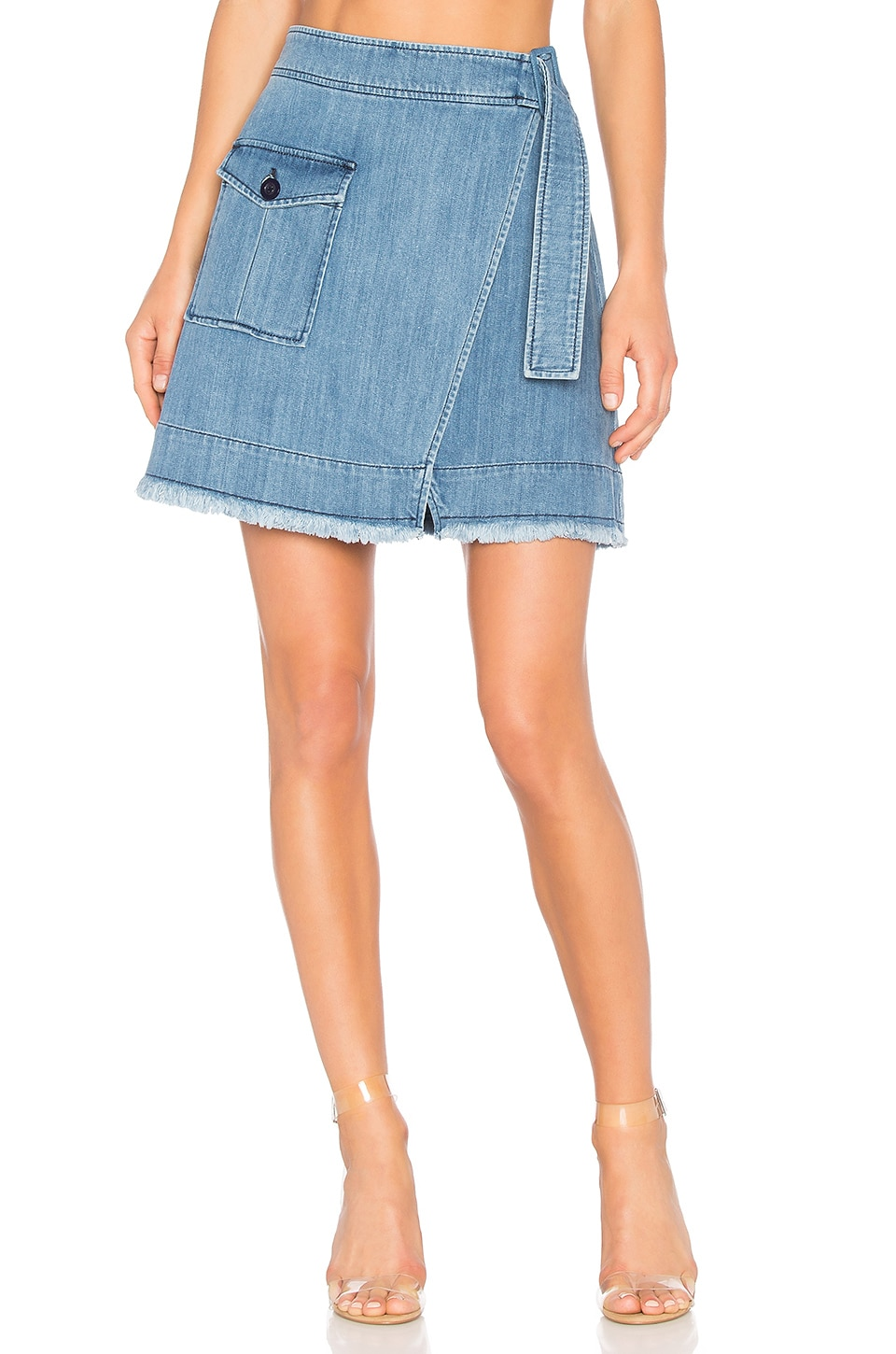 Denim Wrap Mini Skirt by Ei8Ht Dreams