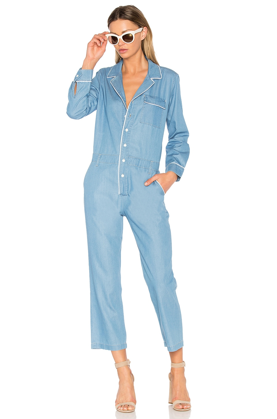 ei8ht dreams Boiler Jumpsuit in Light Wash