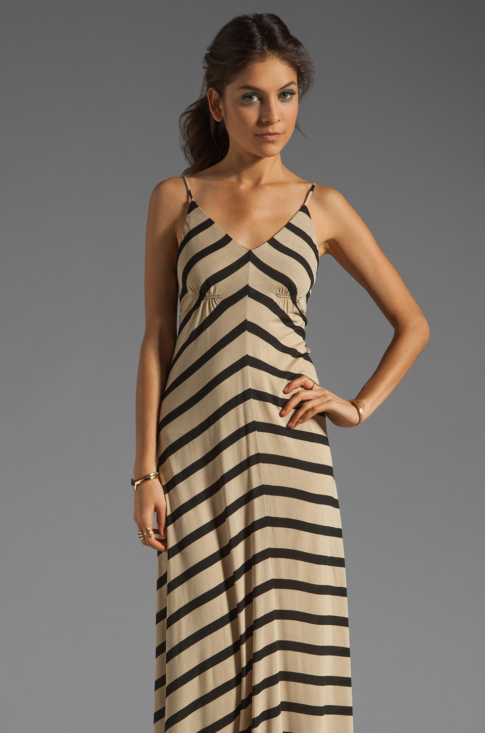 Eight Sixty Stripe Maxi in Camel/Black