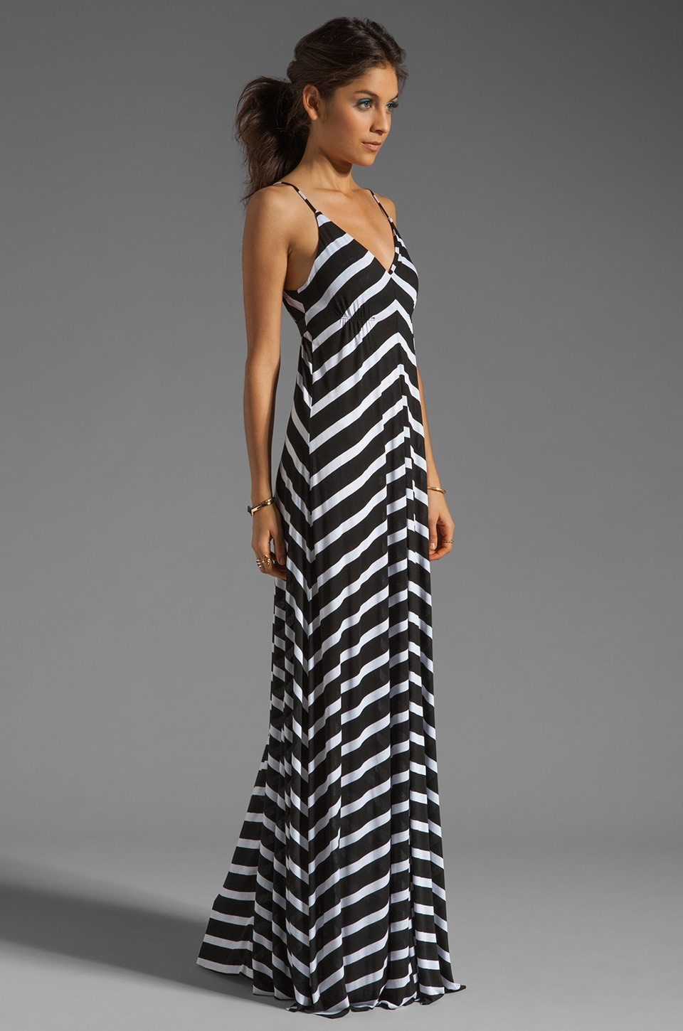 Eight Sixty Stripe Maxi in Scour/Black