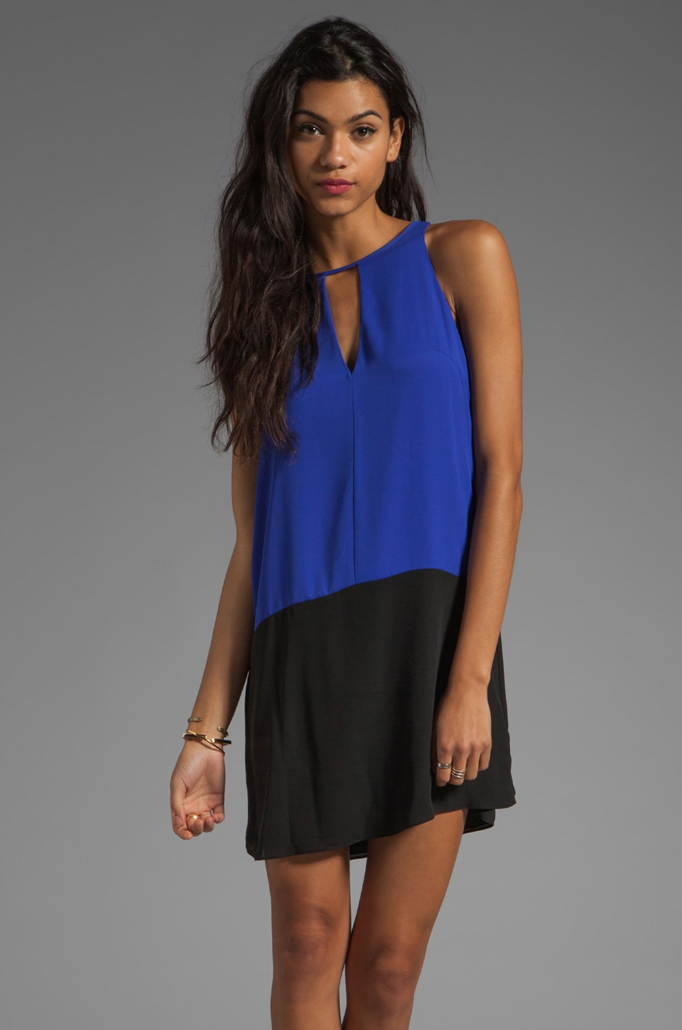 Eight Sixty Colorblock Dress in Blue Surf/Black