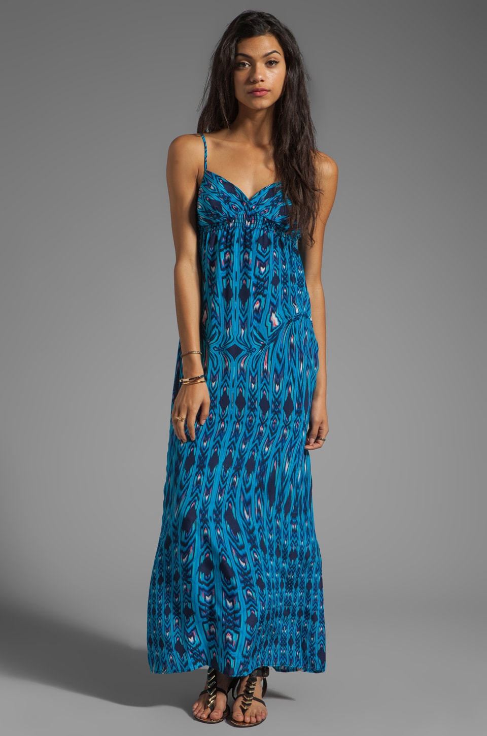 Eight Sixty Maxi in Turquoise/Navy