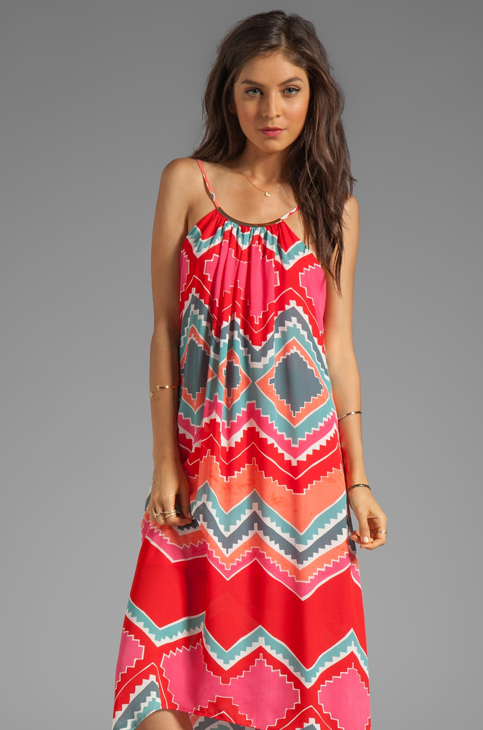Eight Sixty Necklace Dress in Rosarita Print