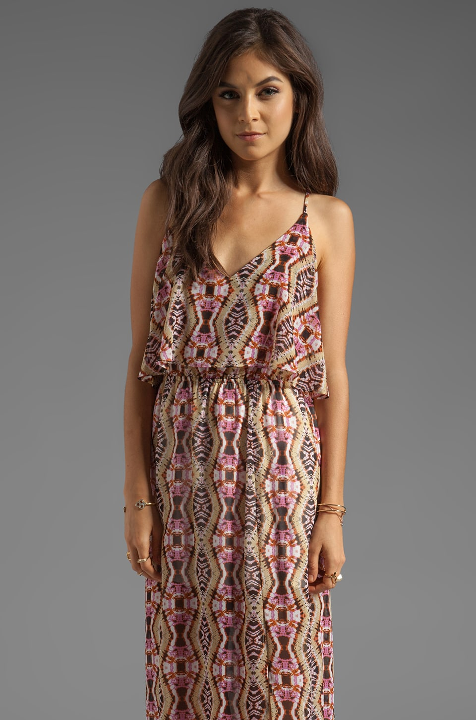 Eight Sixty Maxi Dress in Pink/Natural