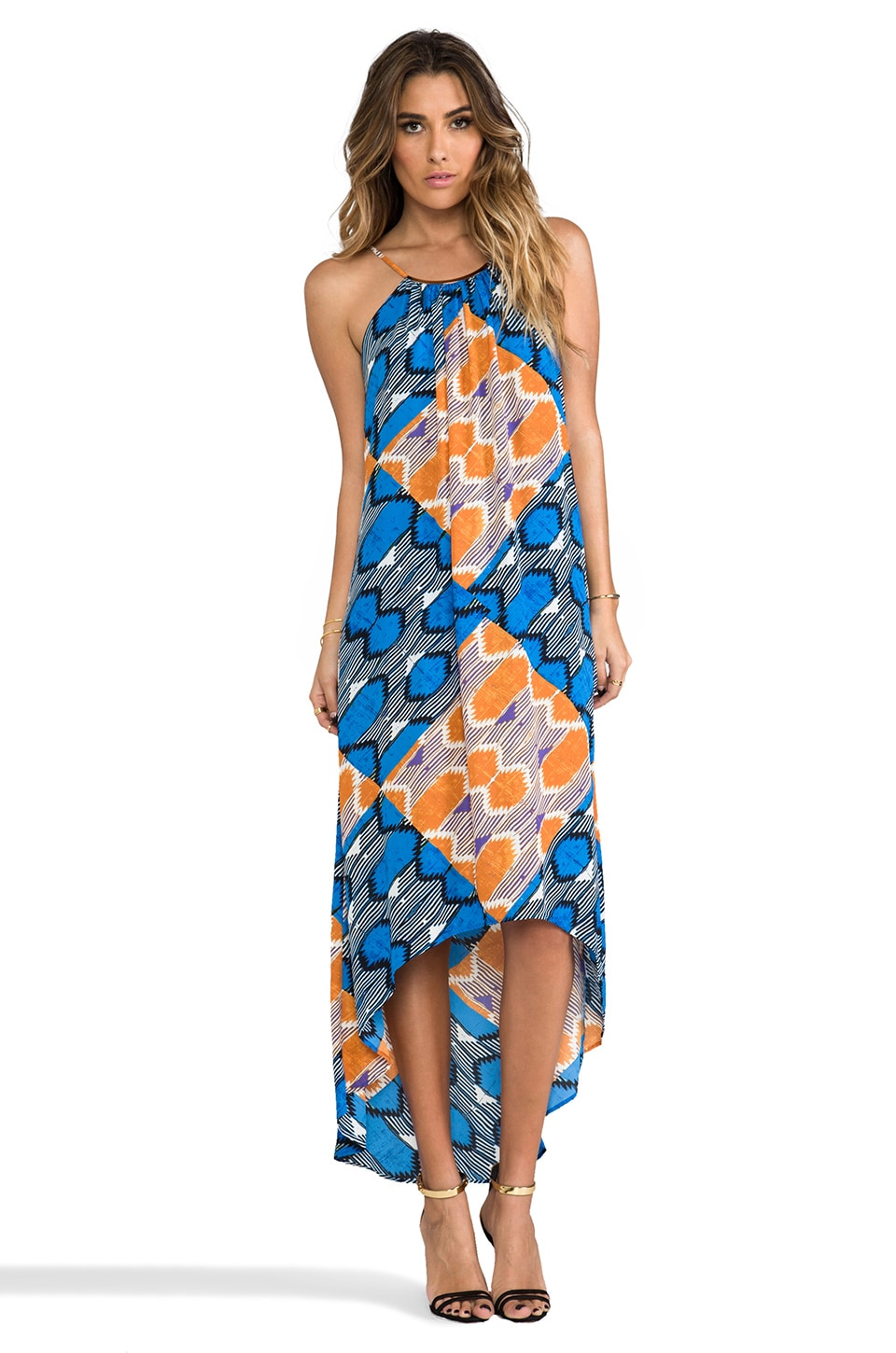 Eight Sixty Tank Maxi in Blue & Russet