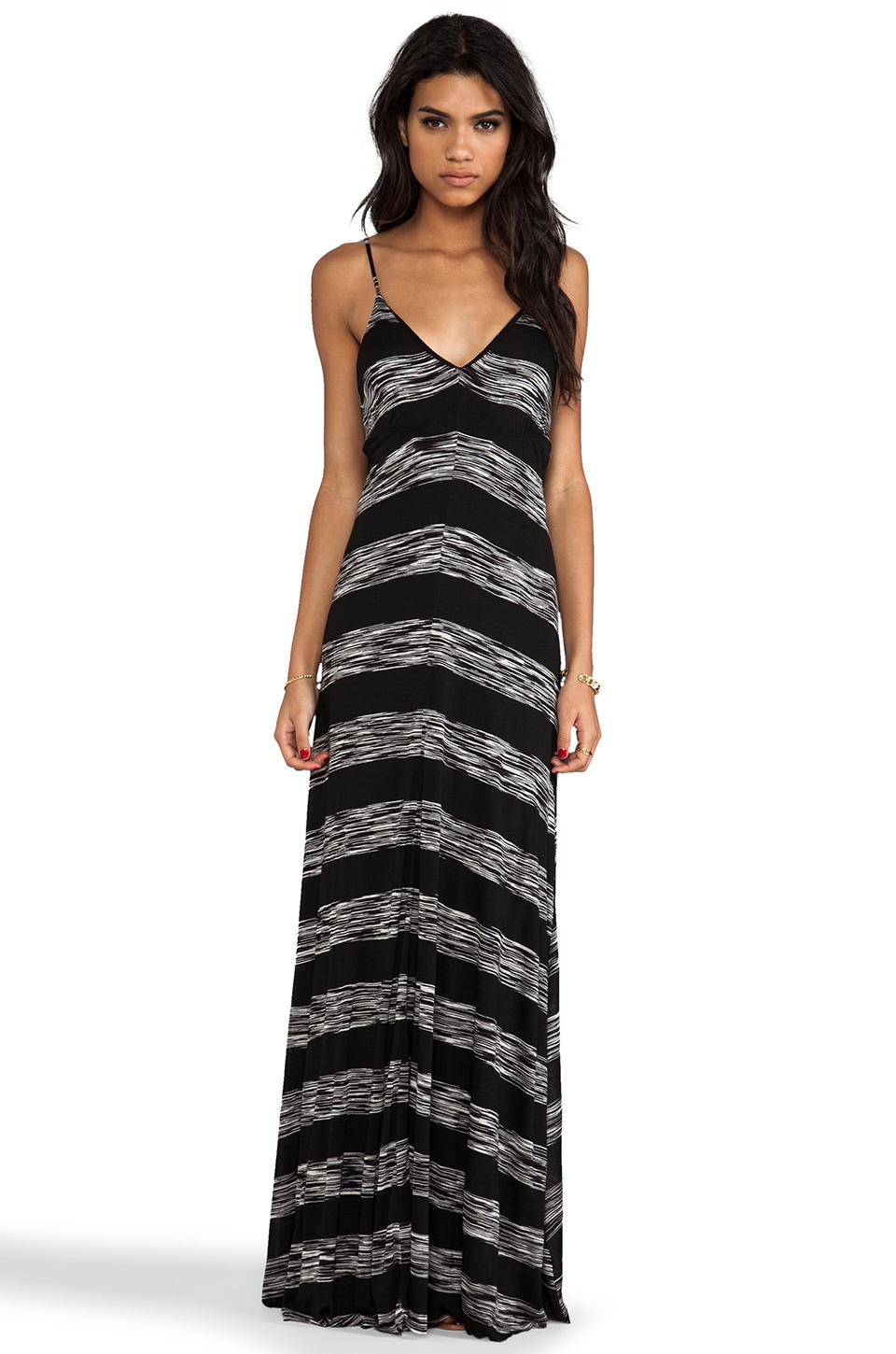 Eight Sixty Space Dye Maxi Dress in Black & White