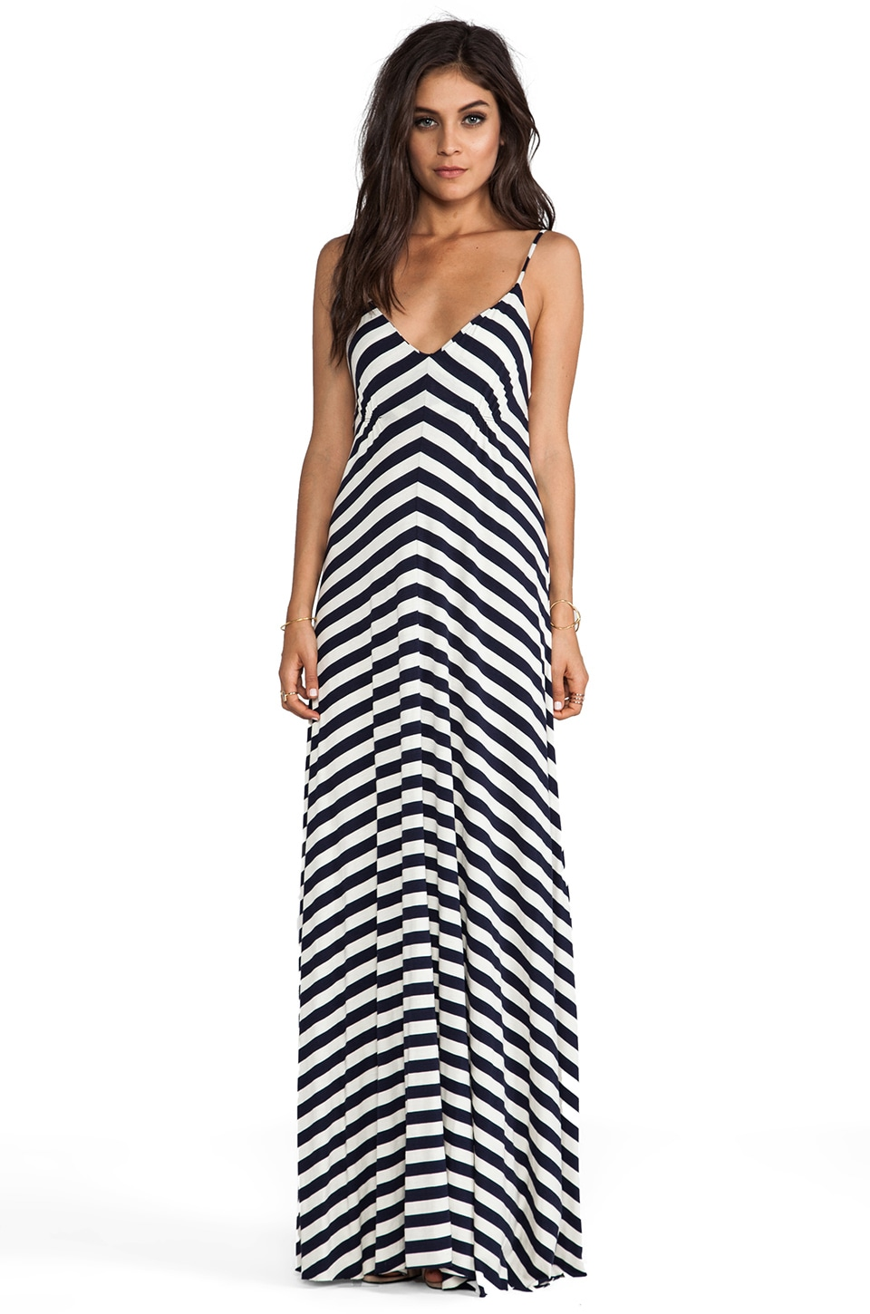 Eight Sixty Stripe Maxi en Navy & Scour