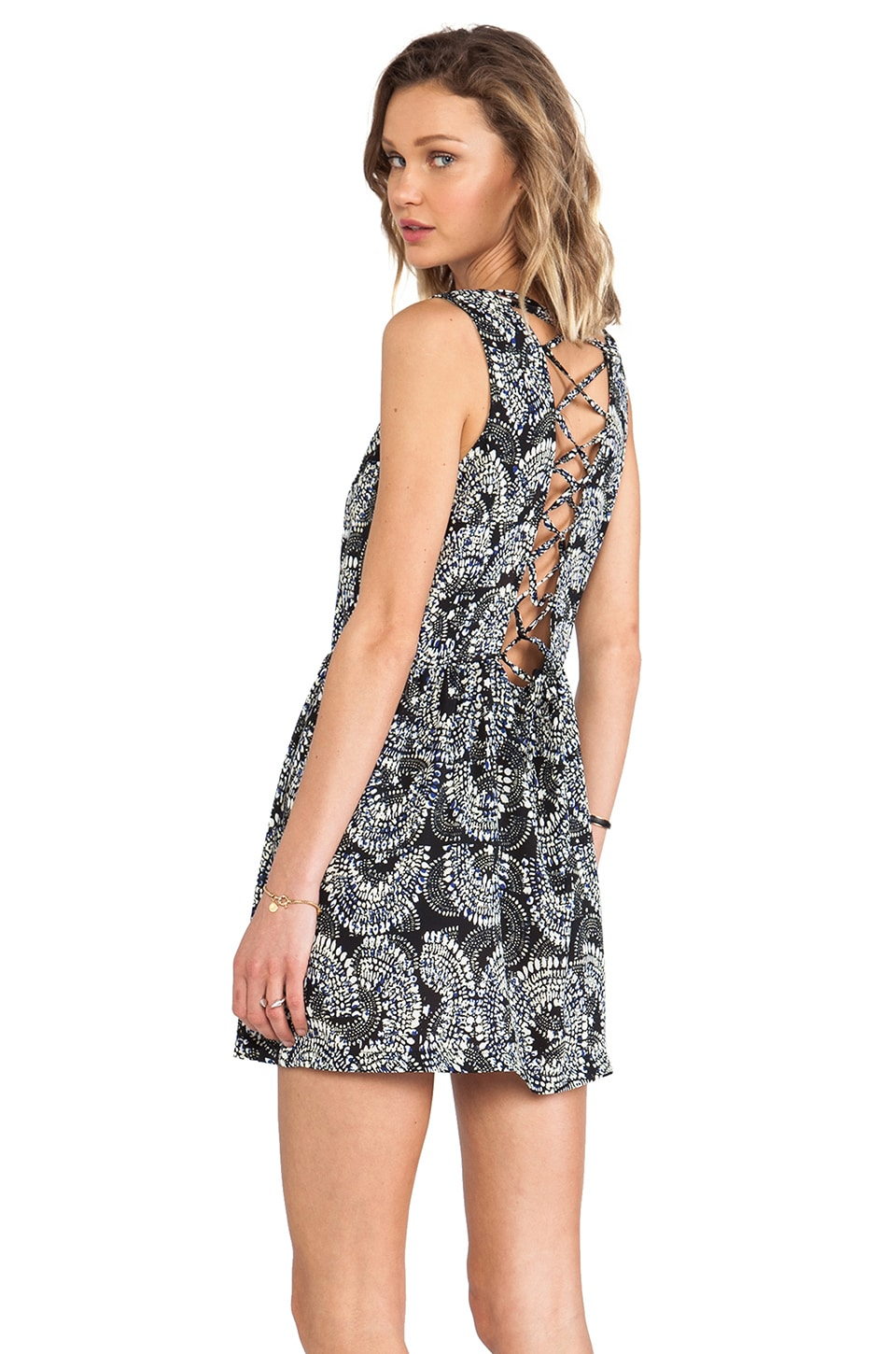 Eight Sixty Lace Back Dress in Zulu