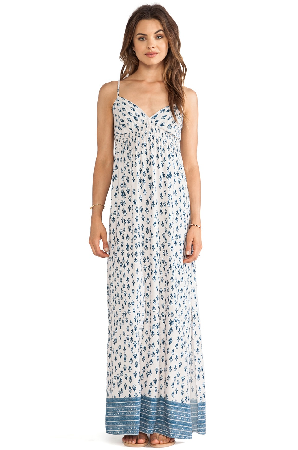 Eight Sixty Sonoma Valley Maxi Dress in Sand & Denim