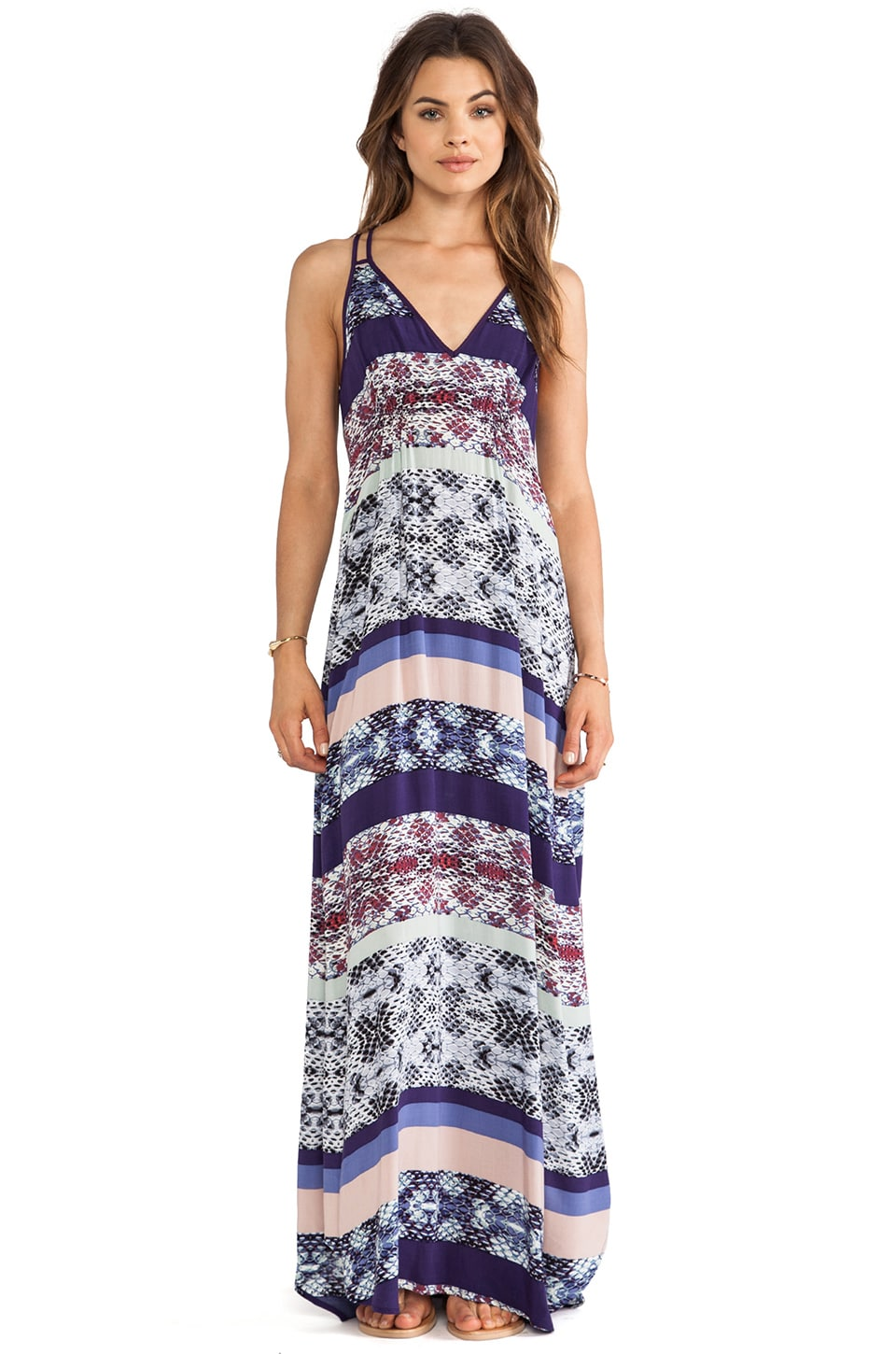 Eight Sixty Racerback Maxi Dress in Wisteria & Multi