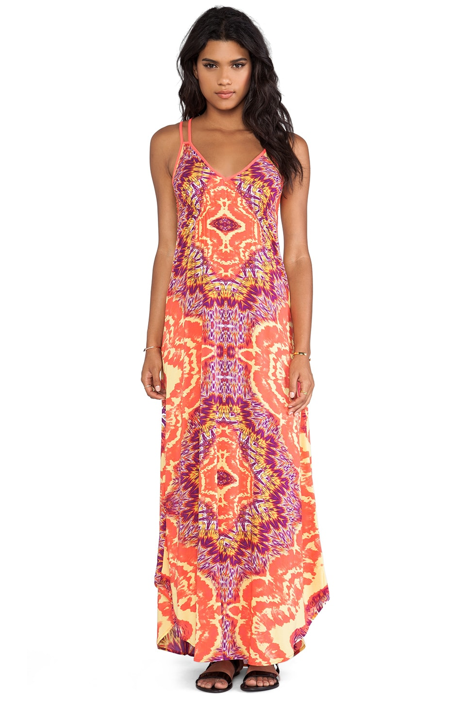 Eight Sixty Grateful Dead Maxi Dress in Yellow & Orange