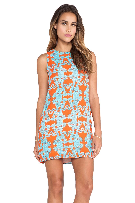 Eight Sixty Ohana Dress in Orange & Blue