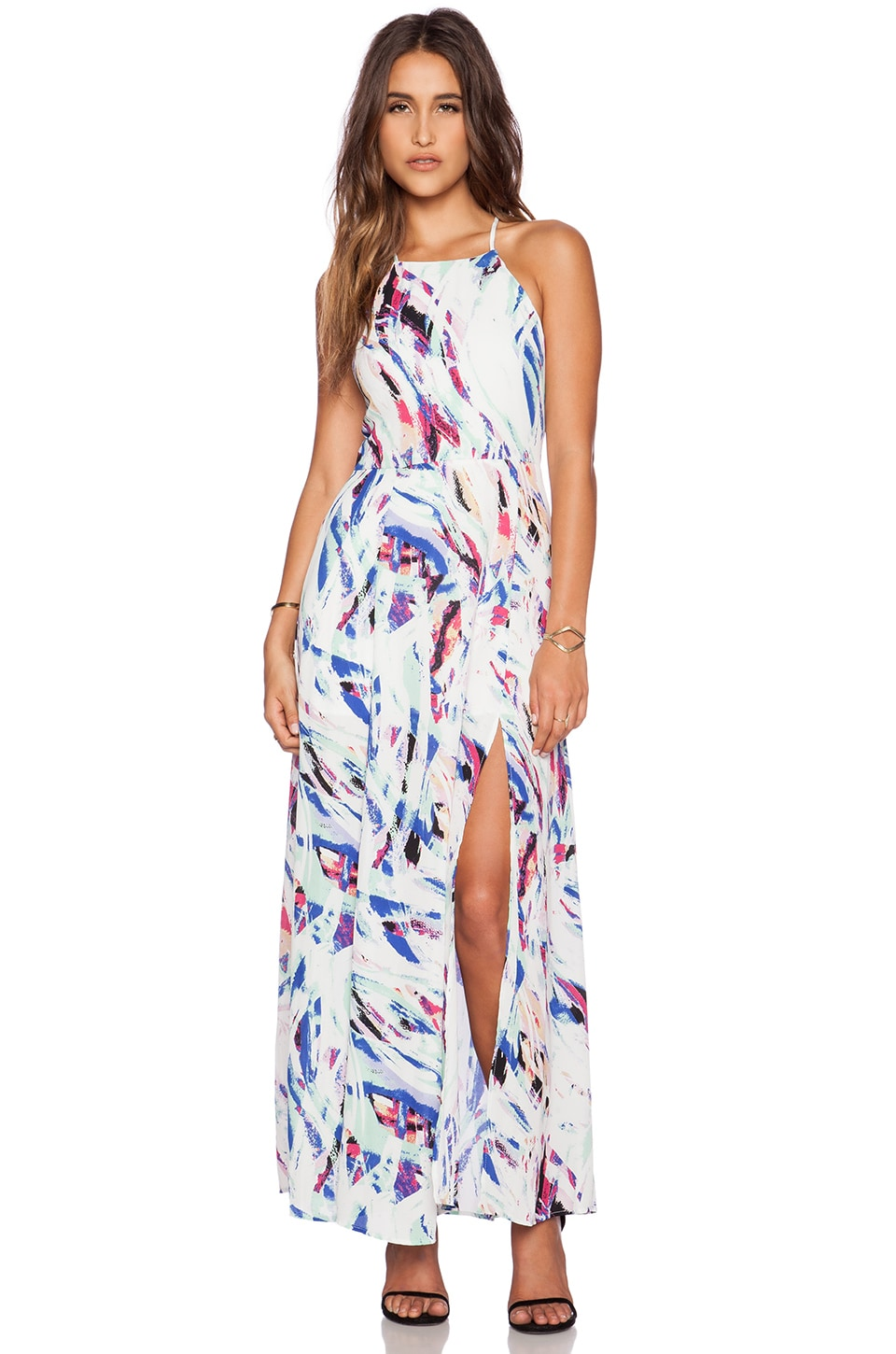 Eight Sixty Colors of the Wind Maxi Dress in White & Royal & Mint ...