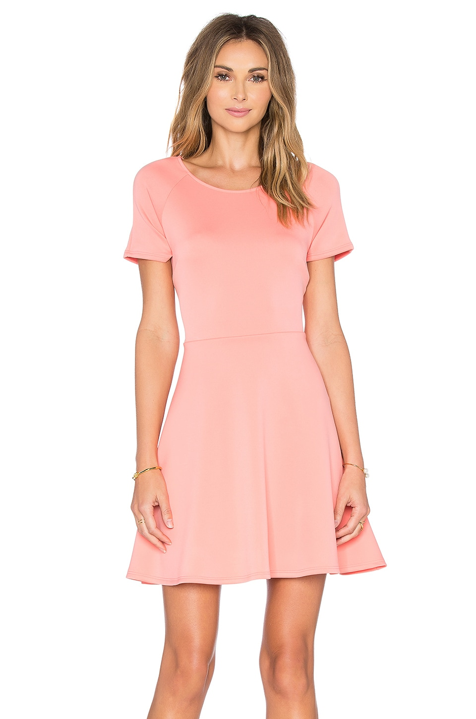 Scuba Cap Sleeve Fit And Flare Dress by Eight Sixty