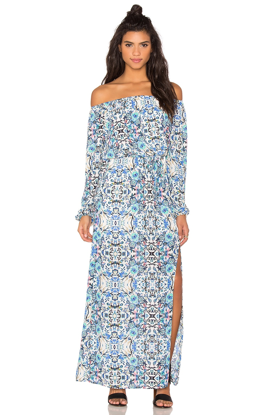 Eight Sixty Broken Bloom Maxi Dress in Blue & Multi