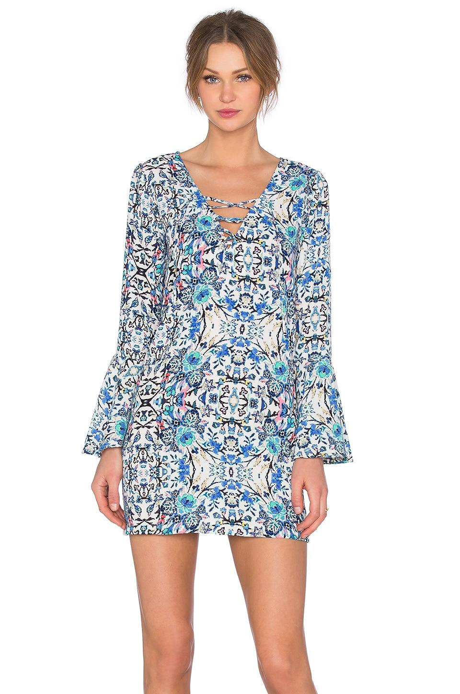 Eight Sixty Broken Bloom Dress in Blue & Multi