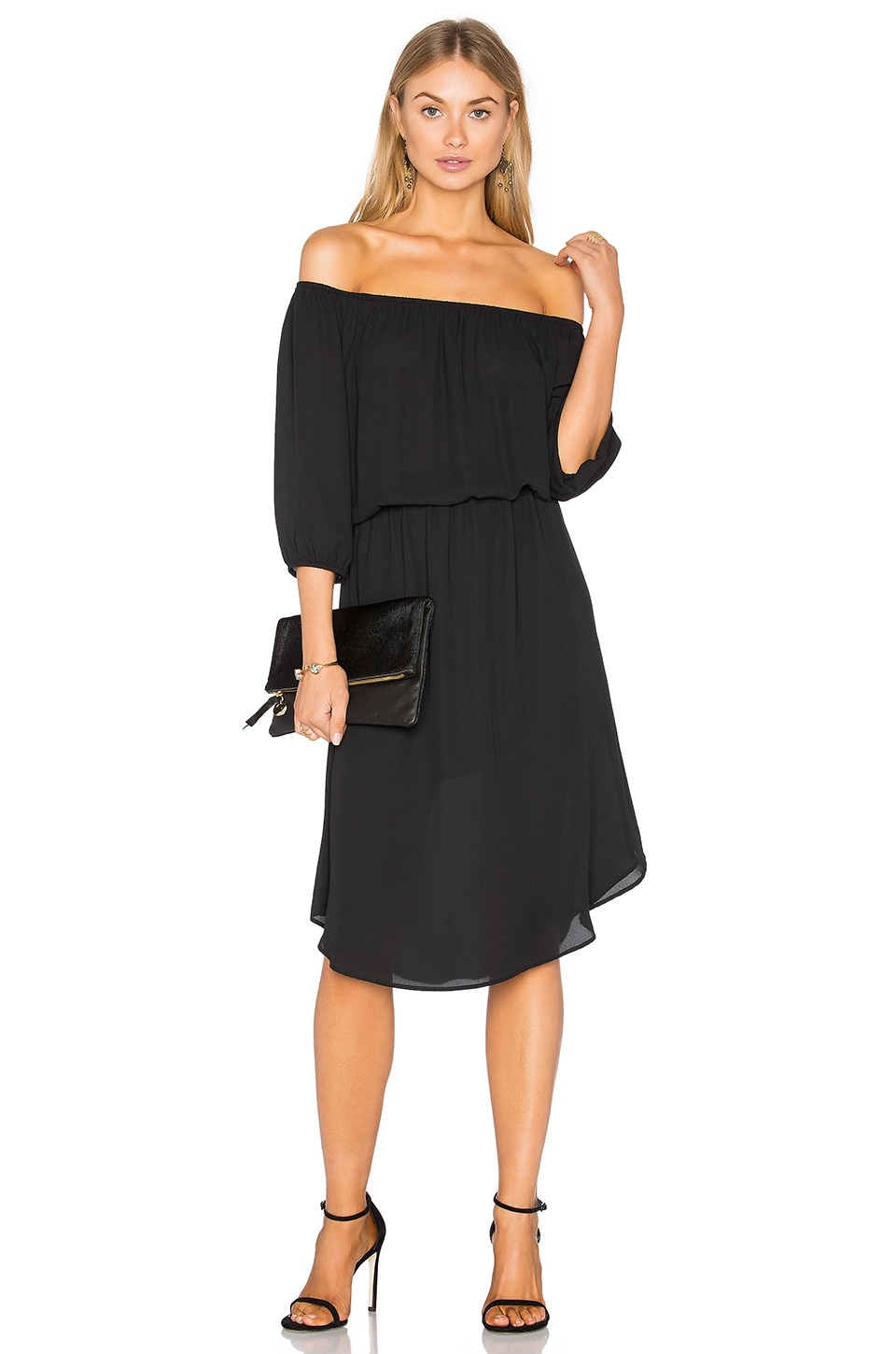Off The Shoulder Midi Dress by Eight Sixty