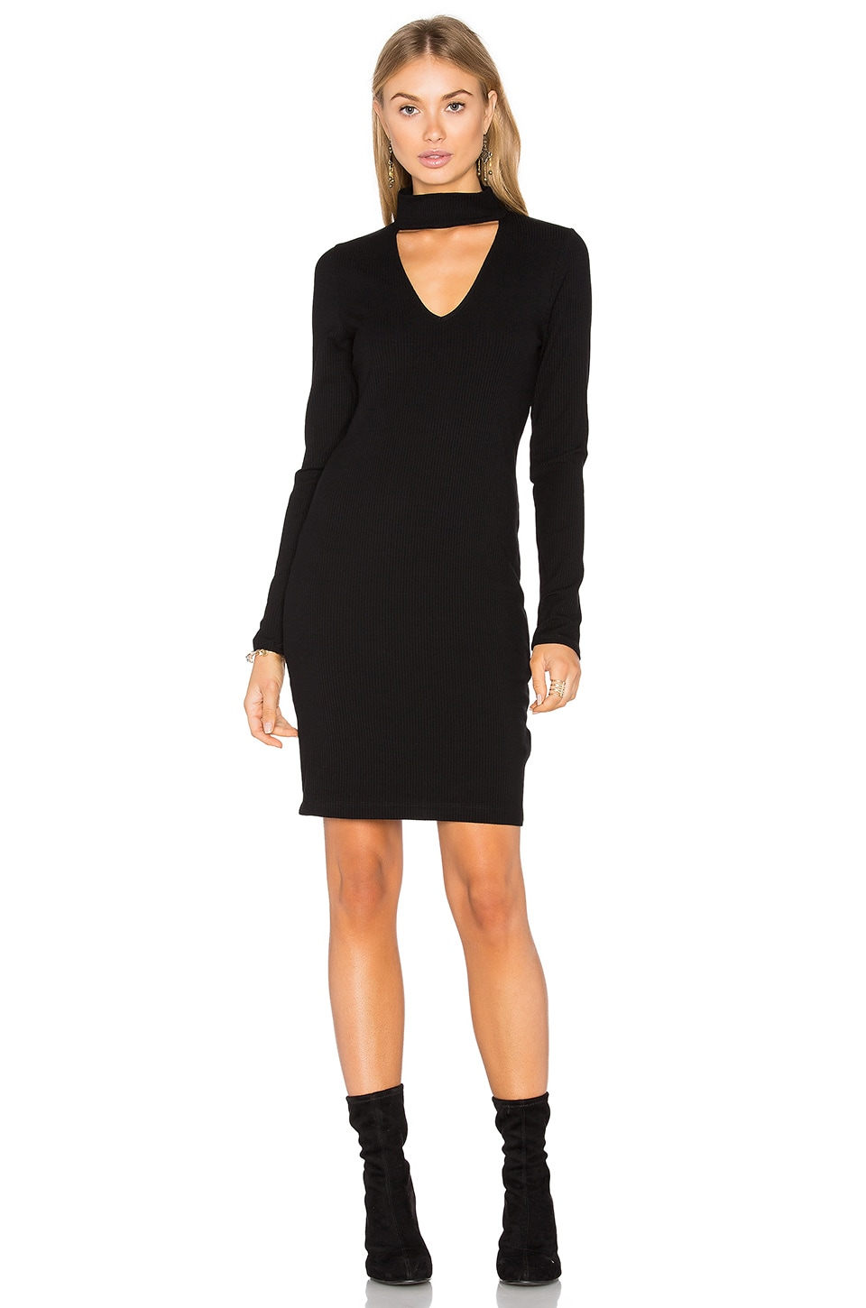 Long Sleeve Ribbed Dress by Eight Sixty
