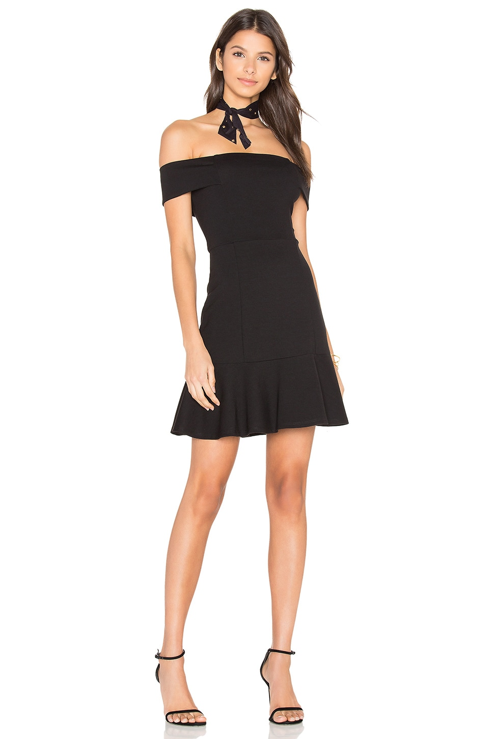 Eight Sixty Off Shoulder Dress in Black