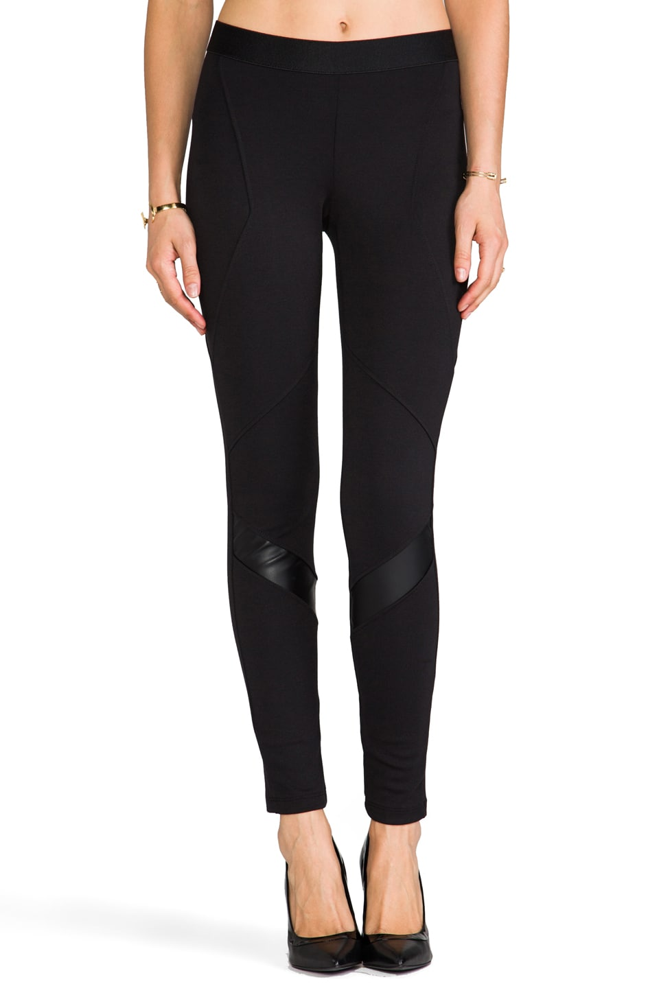Eight Sixty Leather Moto Pants in Black