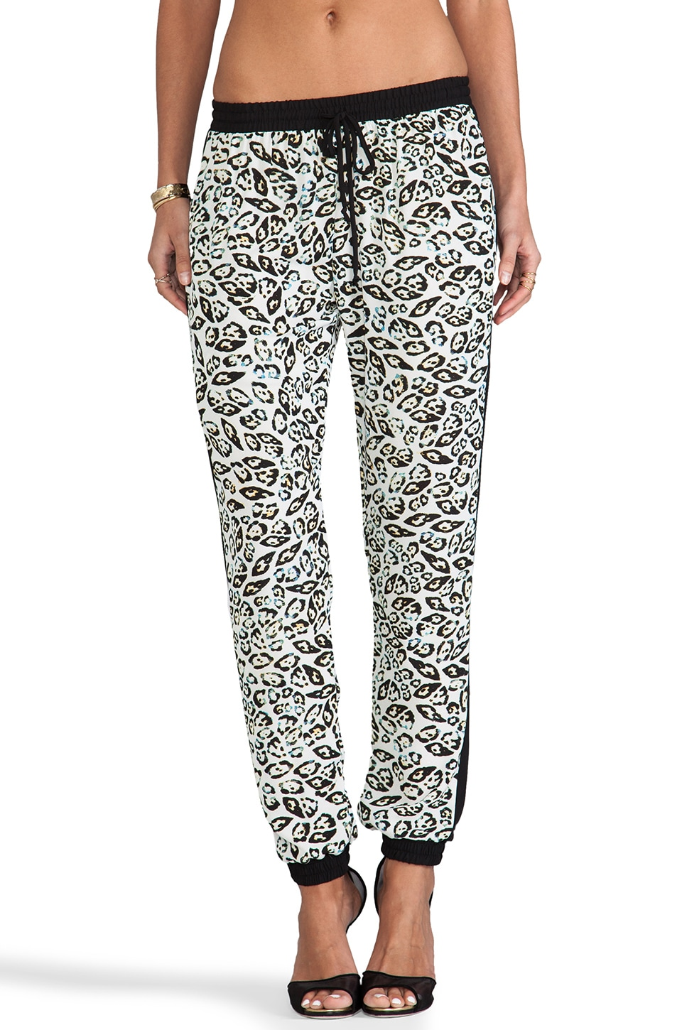 Eight Sixty Eye of the Tiger Pant in Ecru & Black