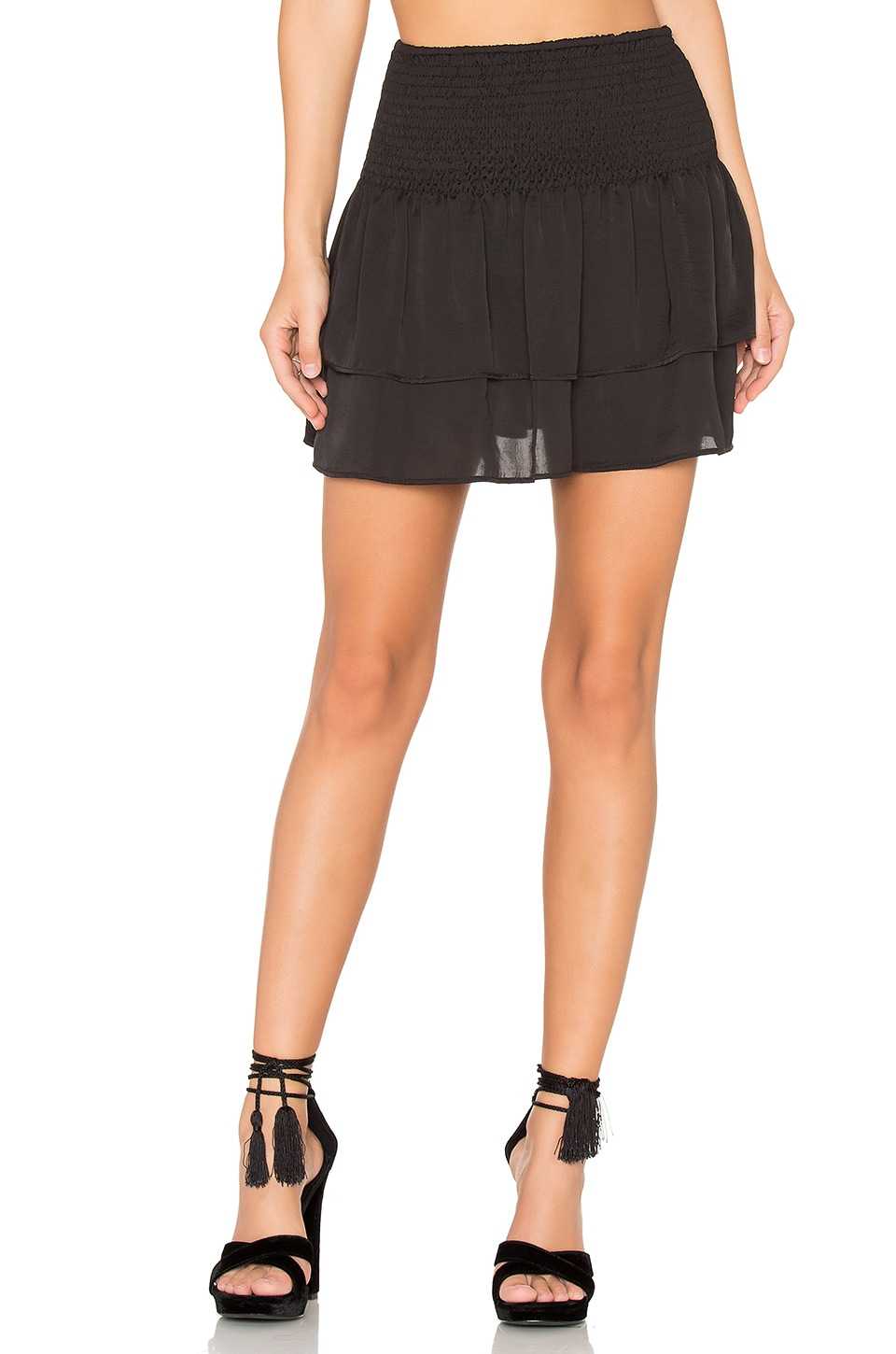 Shirred Mini Skirt by Eight Sixty