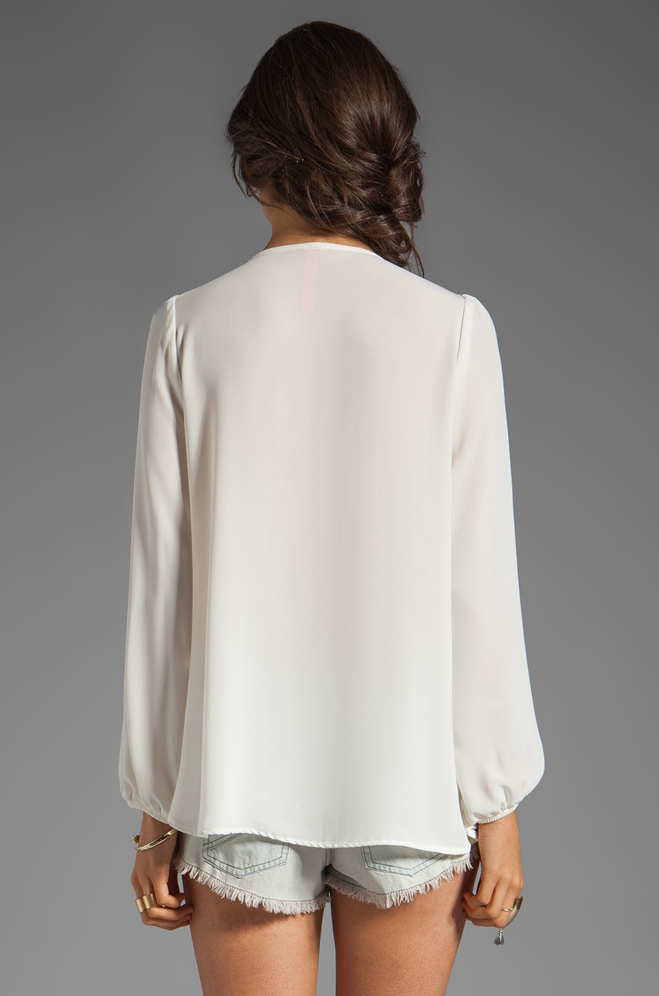 Eight Sixty Beaded Blouse in White