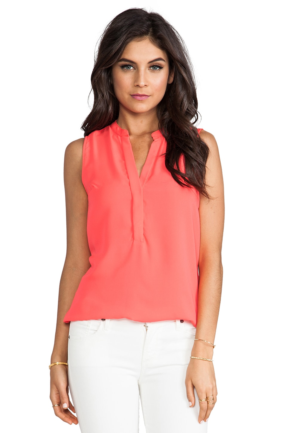 Eight Sixty Tank in Neon Coral
