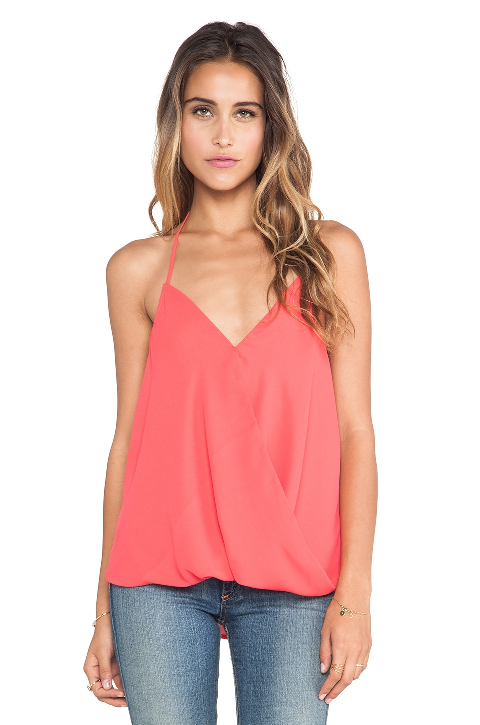 Eight Sixty Halter Top in Coral
