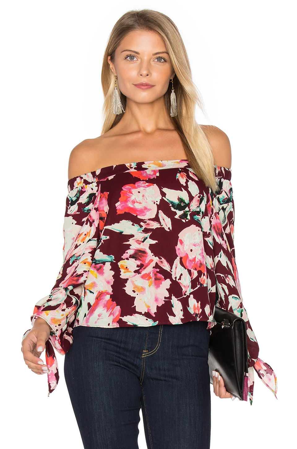 Eight Sixty Off The Shoulder Blouse in Merlot