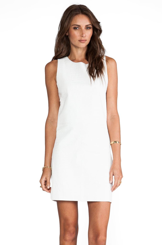Elliott Label Boss Leather Dress in White