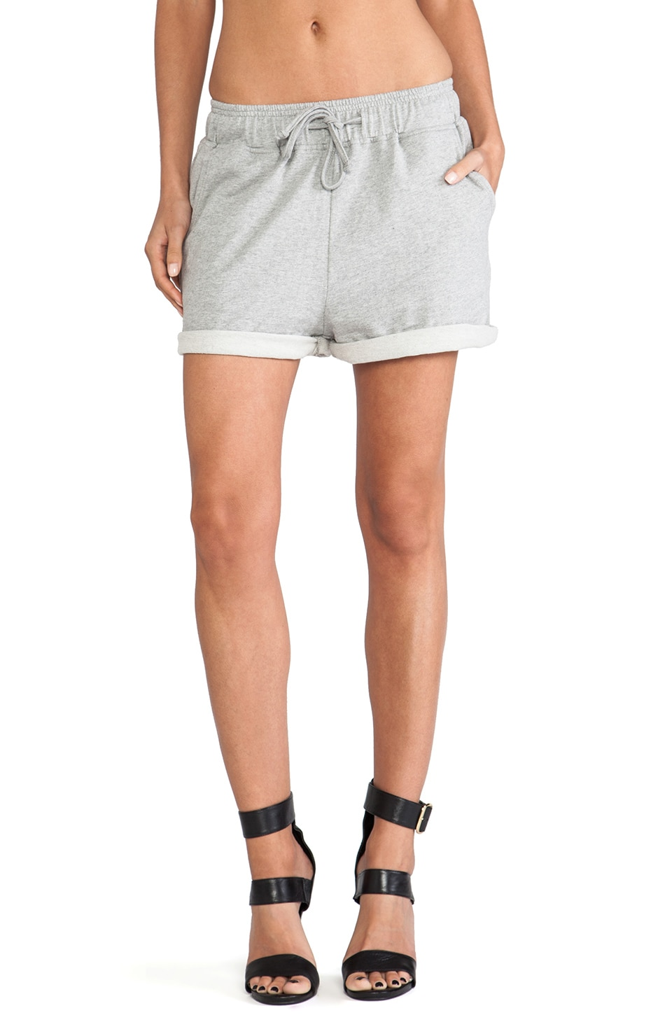Elliott Label Gym Class Shorts in Marle Grey
