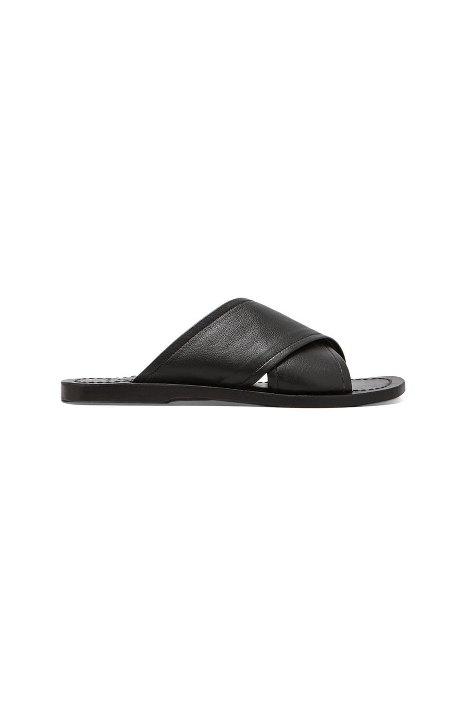 Elliott Label Slide Sandal in Black