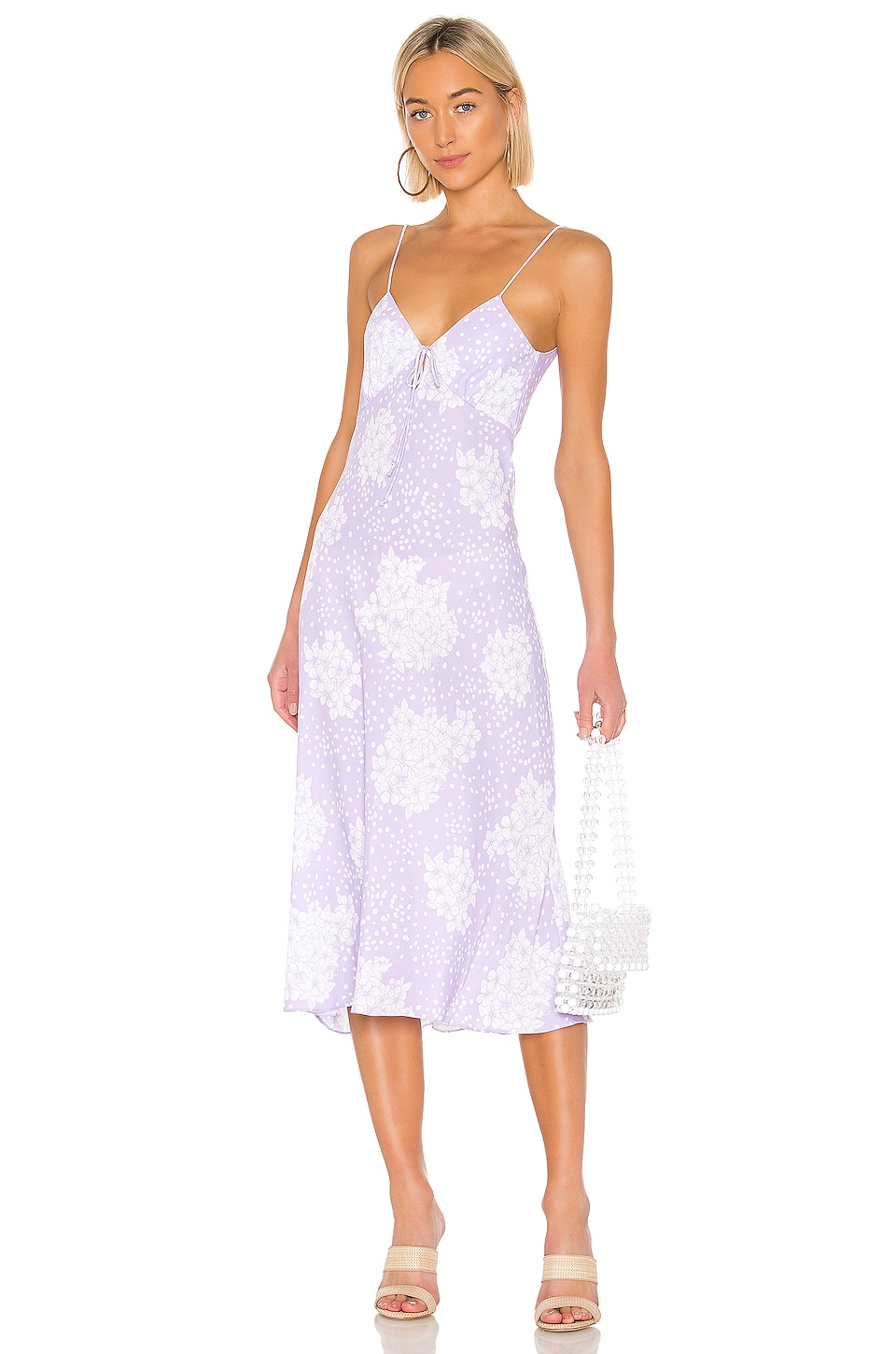 Endless Summer Suki Slip Dress in Vintage Lavender Hydrangea