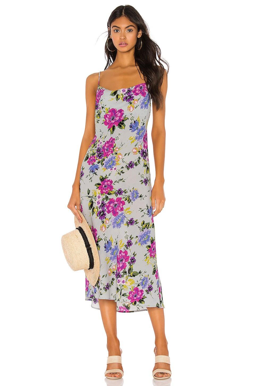Endless Summer Berri Slip Dress in Sky Floral