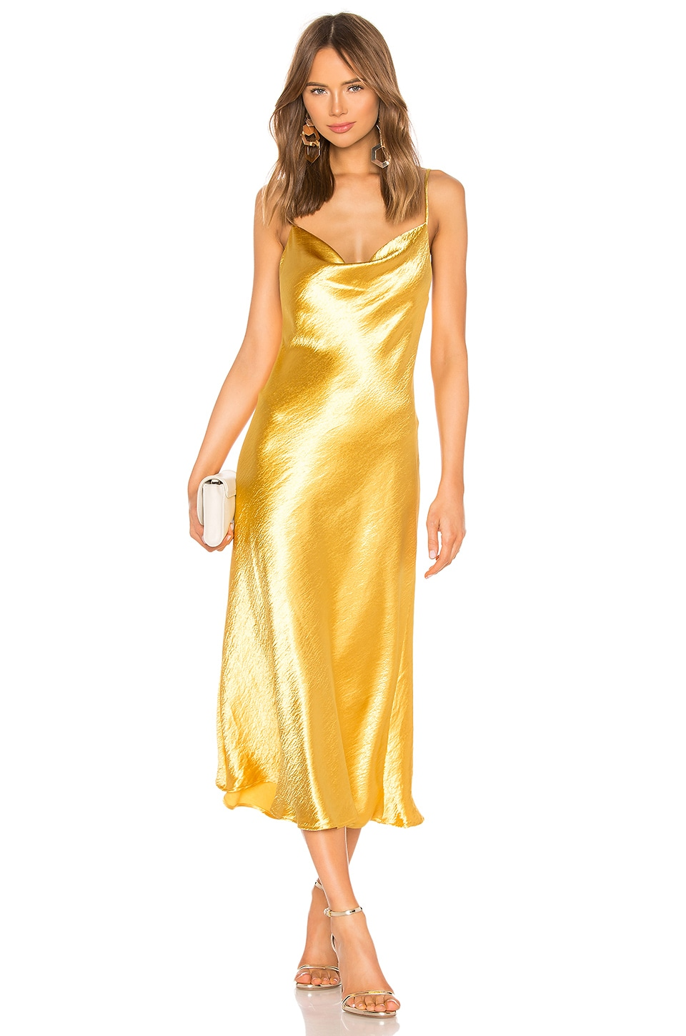 Endless Summer Berri Cowl Neck Slip Dress in Pot Of Gold