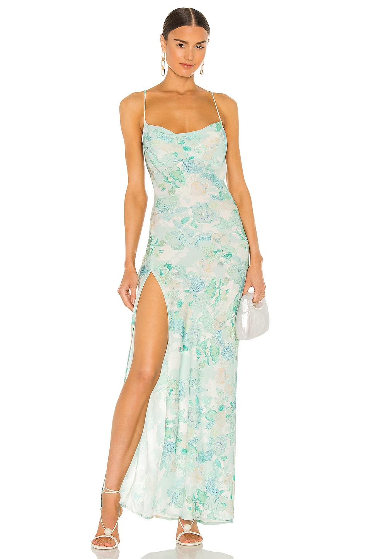 RESA River Dress in Blue Floral