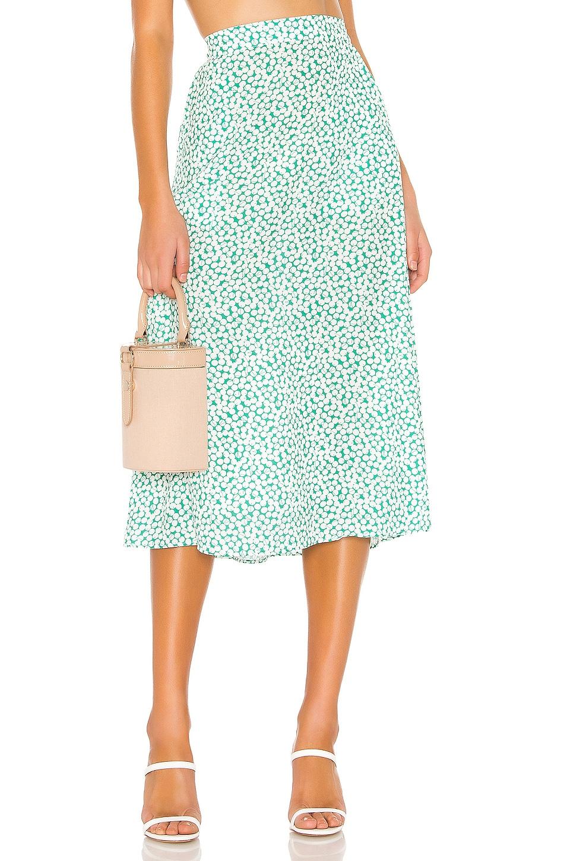 RESA Elia Skirt in Vintage Green Cherry Pop
