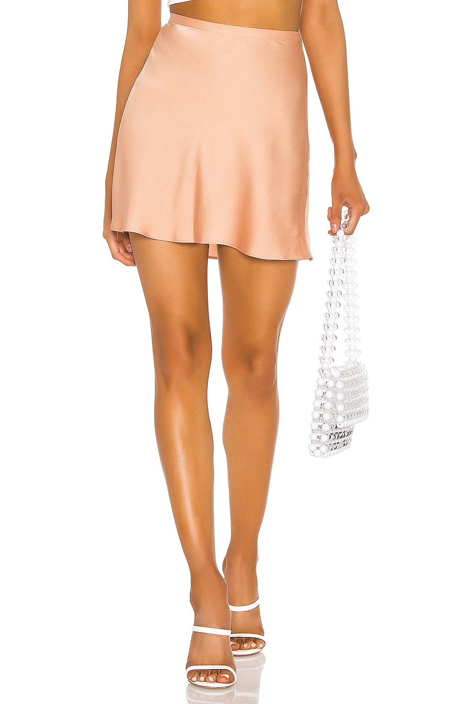 Endless Summer Scarlett Mini Lingerie Skirt in Blush Nude