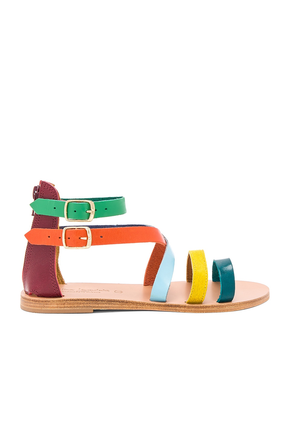 Flipper Pony Hair Sandal by Elina Linardaki